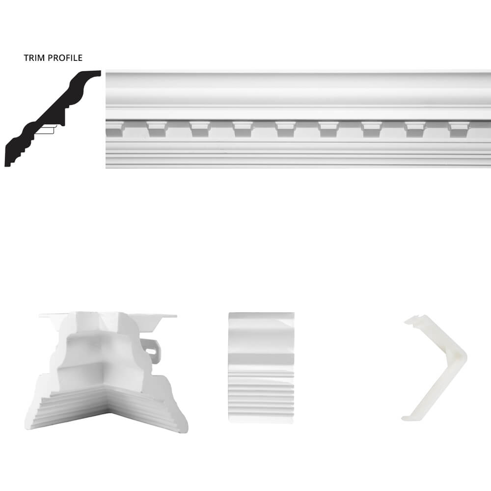 Concord Dentil Crown Moulding Room Kit