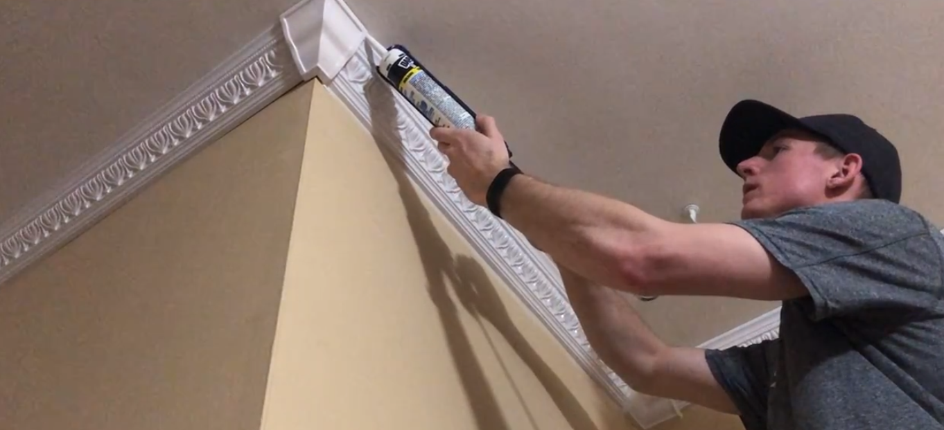 caulking crown molding