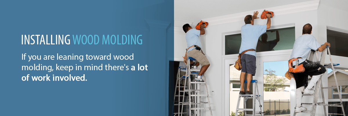 installing wood molding banner